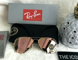 ROSE GOLD RAY-BAN AVIATOR 100% AUTHENTIC